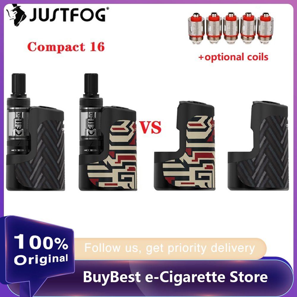 Original JUSTFOG Compact 16 Kit With 1400mAh Battery & 1.9ml Q16 Pro-C Clearomizer E-cigarette Vape Kit VS Q16 Pro / Vinci X
