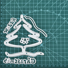Naifumodo Word Dies Christmas Tree Metal Cutting New 2019 for Card Making Scrapbooking Cuts Decor Stencil Craft