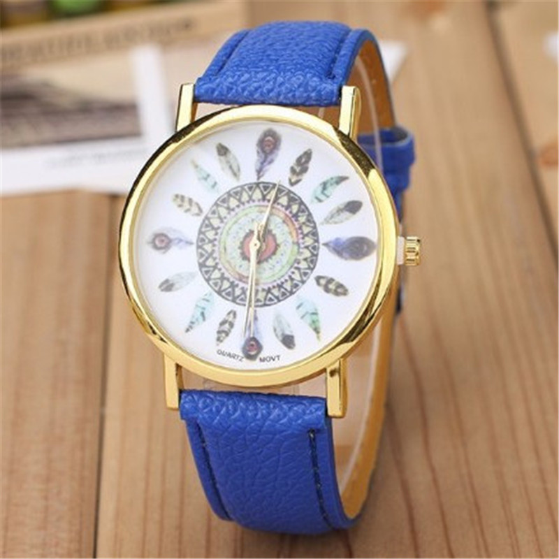 Watch Children's watch Carton Rainbow Animal Kids Girls Leather Band Analog Alloy Quartz Watches wristwatches bande de montre er