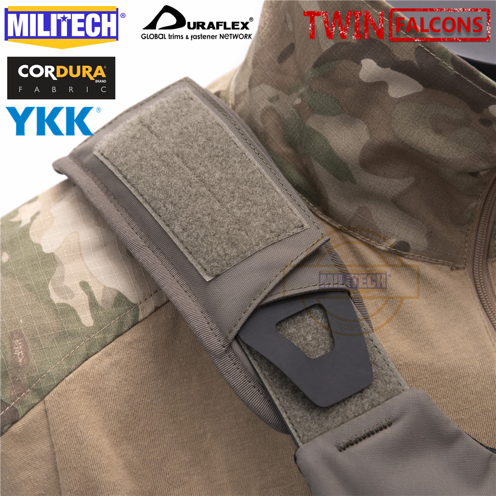 MILITECH TWINFALCONS TW Delustered Cordura Depressurized Shoulder Pads Vest Padding Shoulder Strap Padding Set