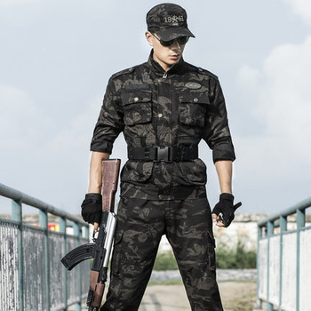 Camouflage Suit Men's Tactical Special Forces Military Uniform Male Spring Training Labor Protection Wear-resistant Army Clothes