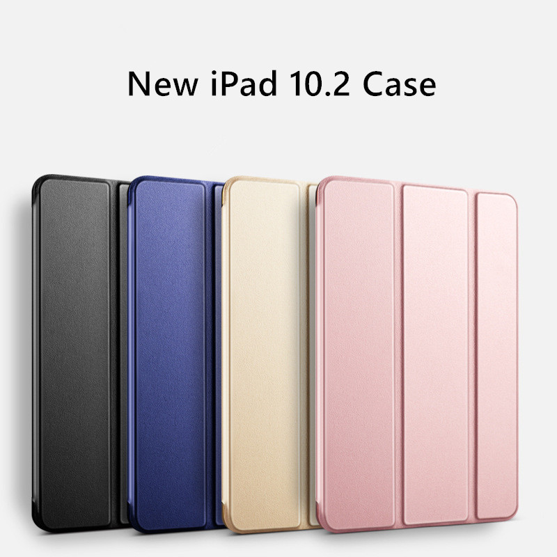10.2 7th Case iPad Translucent generation Slim Back Leather Trifold PC Smart 2019 for