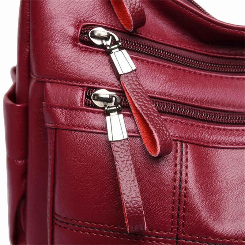 Gorąca miękka skóra Bolsa luksusowe damskie torebki damskie torebki Crossbody dla kobiet torby listonoszki wątek Sac A Main Femme