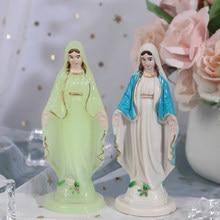 Maria católica estátua madonna artesanal virgem maria estátua jesus decoração de casa presente