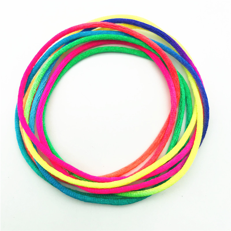 3pcs Colourful Finger Rope Rainbow Toy Rope Thread Toy Nylon 2mm//1.65M Puzzle