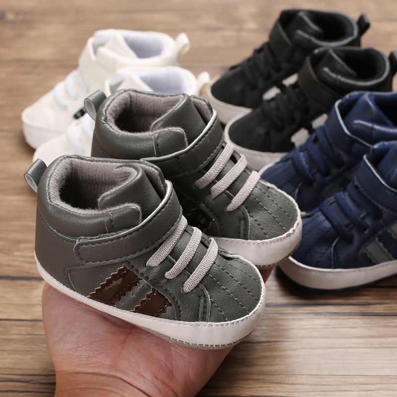 ใหม่เกิดเด็กทารกกีฬาเดิน Shohes Weixinbuy Infatil Soft Sole รองเท้าหนัง PU รองเท้าผ้าใบ Bebe ลายเด็กวัยหัดเดินกีฬารองเท้า