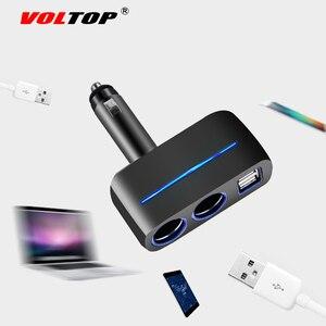 Image 4 - VOLTOP 1 точка 2 двойной зарядное устройство USB Автомобильные украшения аксессуары телефон зарядка прикуриватель