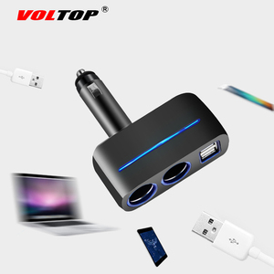 Image 4 - VOLTOP 1 Punto 2 Dual USB cargador de coche adornos de coche accesorios de carga de teléfono encendedor de cigarrillos