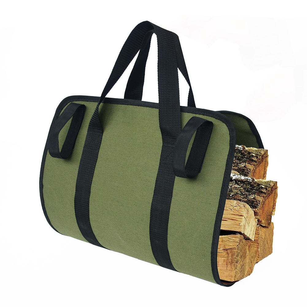 Multifunction Log Supersized Canvas Firewood Wood Carrier Log Camping Outdoor Holder Carry Bag Protect Shoulder Handbag Canvas C