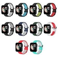 Para xiaomi mi watch lite pulseira de liberação rápida pulseira de silicone pulseira esportiva para redmi watch pulseira de relógio inteligente