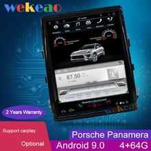 Wekeao Vertikale Bildschirm Tesla Stil 10.4 2 Din Android 9,0 Auto Dvd Multimedia Player Für Porsche Panamera Auto Radio automotivo
