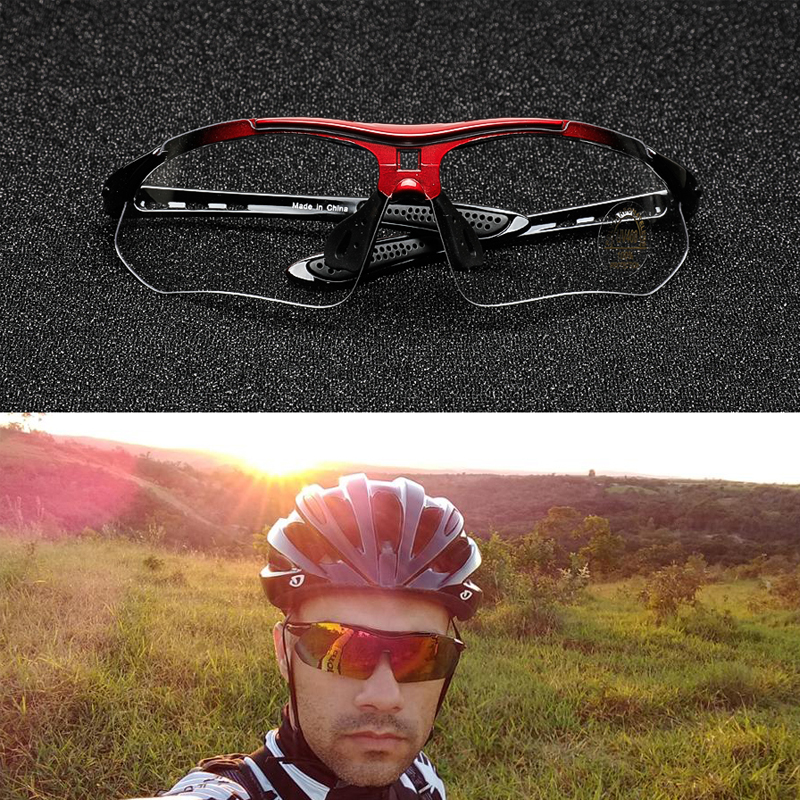 H61b676e35df9408cbc8fef5ad03360dc6 COMAXSUN Professional Polarized Cycling Glasses Bike Goggles Outdoor Sports Bicycle Sunglasses UV 400 With 5 Lens TR90 2 Style