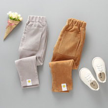 Male baby slacks article 2019 new childrens smiling face, the sweat pants child thin super soft long