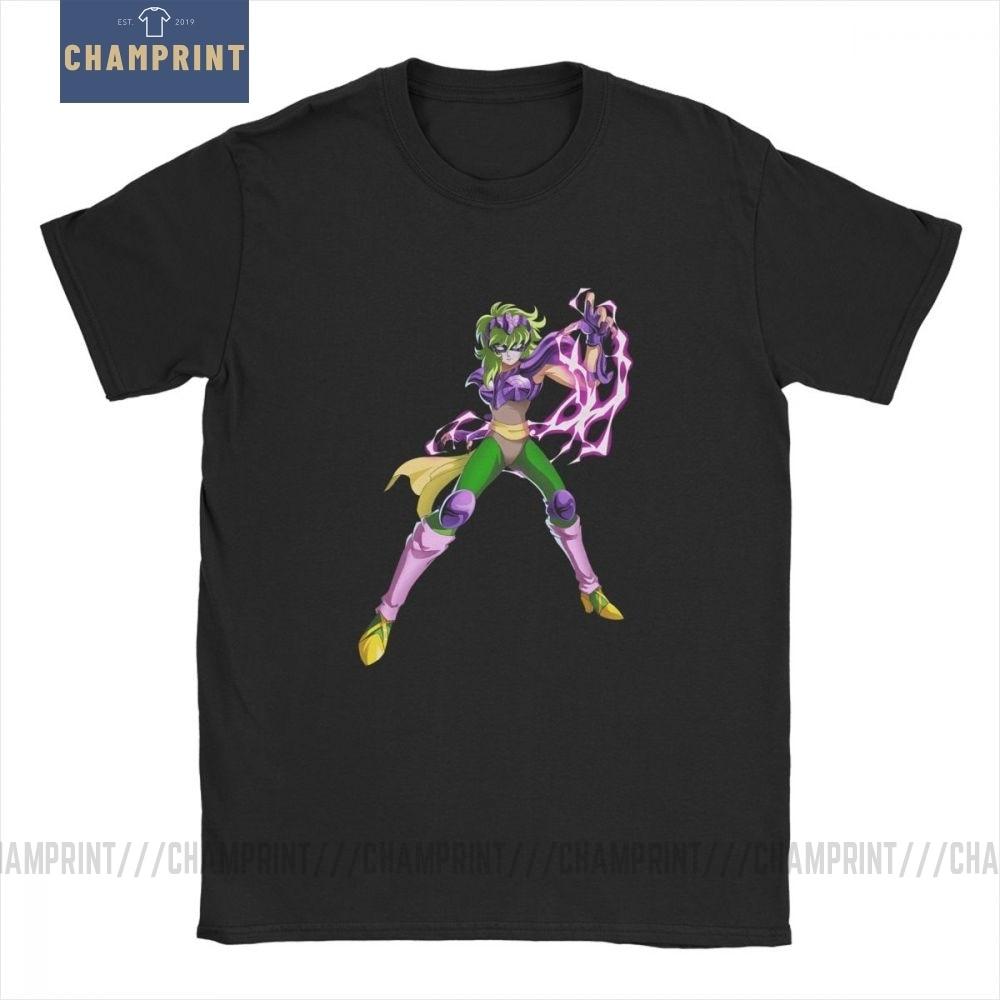 Men Ophiuchus T Shirts Knights of the Zodiac Saint Seiya 90s Anime Cotton Clothing Awesome Short Sleeve Tee Big Size T ShirtsT-Shirts   -