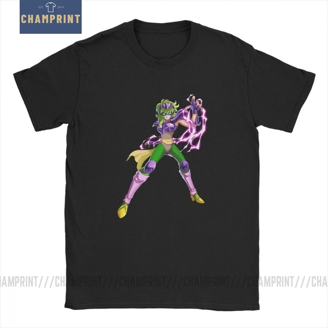 Men Ophiuchus T Shirts Knights of the Zodiac Saint Seiya 90s Anime Cotton Clothing Awesome Short Sleeve Tee Big Size T Shirts