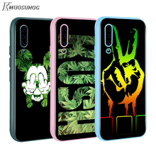 Abstractionism Art high weed Baseus Candy Color Cover for Xiaomi Mi NOTE 10 9 8