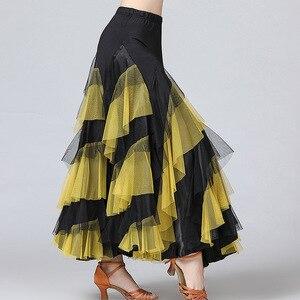 Image 4 - חדש נשים ואלס סלסה רומבה סלוניים ריקוד תלבושות חצאיות נשים ריקודים סלוניים חצאיות ספרד ריקוד ביצועים