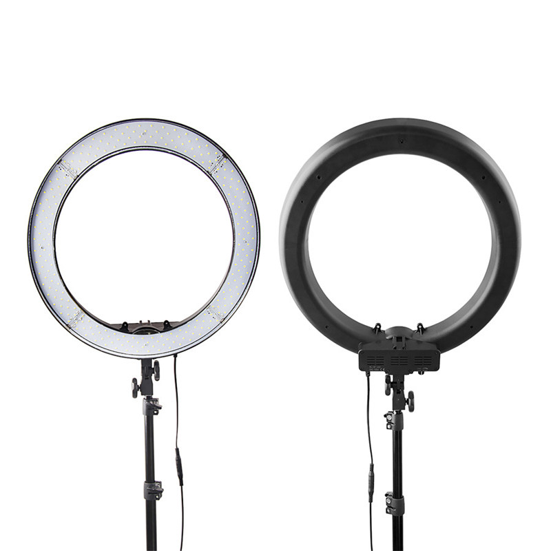 Image 5 - FOSOTO RL 18 photographic lighting 5500K Led Ring Light WithTripod & Orange Bag Ring Lamp For Makeup Camera Phone Youtube Video-in Photographic Lighting from Consumer Electronics