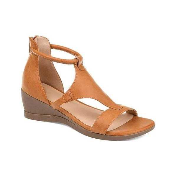 Vertvie 2020 Phụ Nữ Mùa Hè Giày Sandal Giữa Gót Giày Đế Xuồng Da PU Cổ Điển Võ Sĩ Giác Đấu Sandalias Sapato Feminino