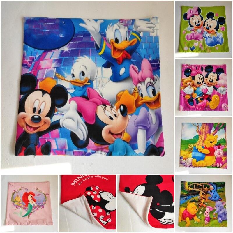 Housse de coussin dessin animé Disney   Dessin animé Disney, Winnie Mickey Minnie, housse d'oreiller/de sieste, housse d'oreiller sham, housse de coussin pour enfants, 45x45cm