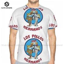 Camiseta de Los Pollos Hermanos para hombre, camisa divertida de manga corta de poliéster, playera estampada de gran tamaño para playa