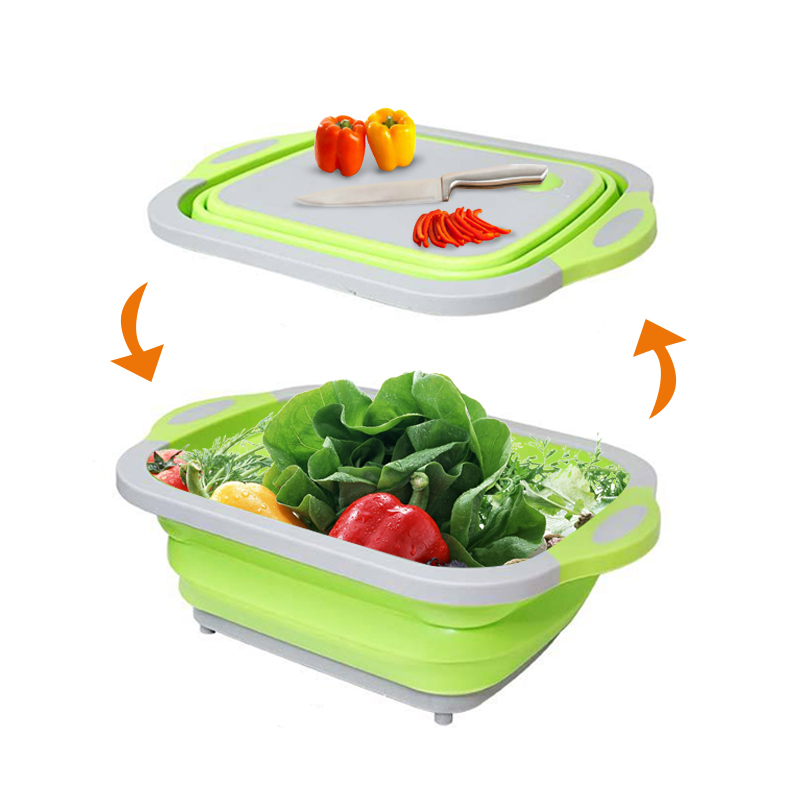 Multifunction Plastic Folding Chopping Board Vegetable Cutting Boards Washing Basket Sink Kitchen Organizer Accessories Gadgets|Chopping Blocks| |  - title=