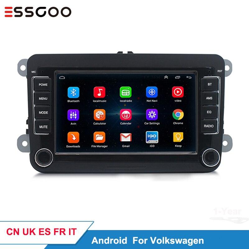 Essgoo Android 7 ''автомобильный мультимедийный плеер Поддержка gps навигация Авторадио 1din стерео видео MP5 Автомагнитола для Volkswagen для VW