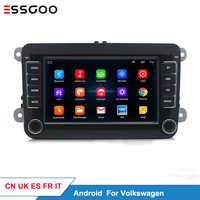 Essgoo Android 7 ''voiture lecteur multimédia Support GPS Navigation Autoradio 1din stéréo vidéo MP5 Autoradio pour Volkswagen pour VW