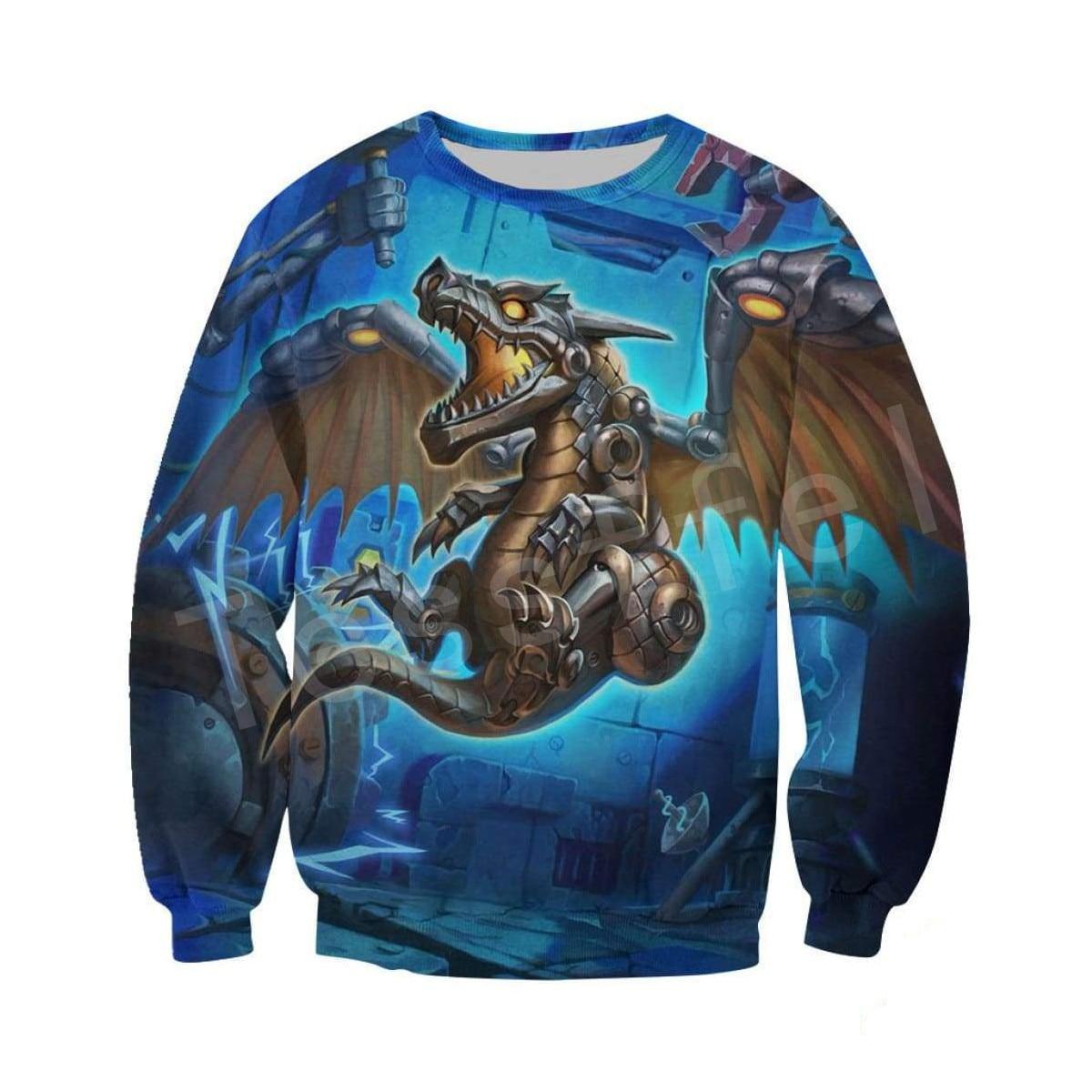 Tessffel Dragon Art Animal Harajuku MenWomen HipHop 3DPrinted Sweatshirts hoodie jackt shirts Tracksuits Casual Colorful Style11 in Hoodies amp Sweatshirts from Men 39 s Clothing
