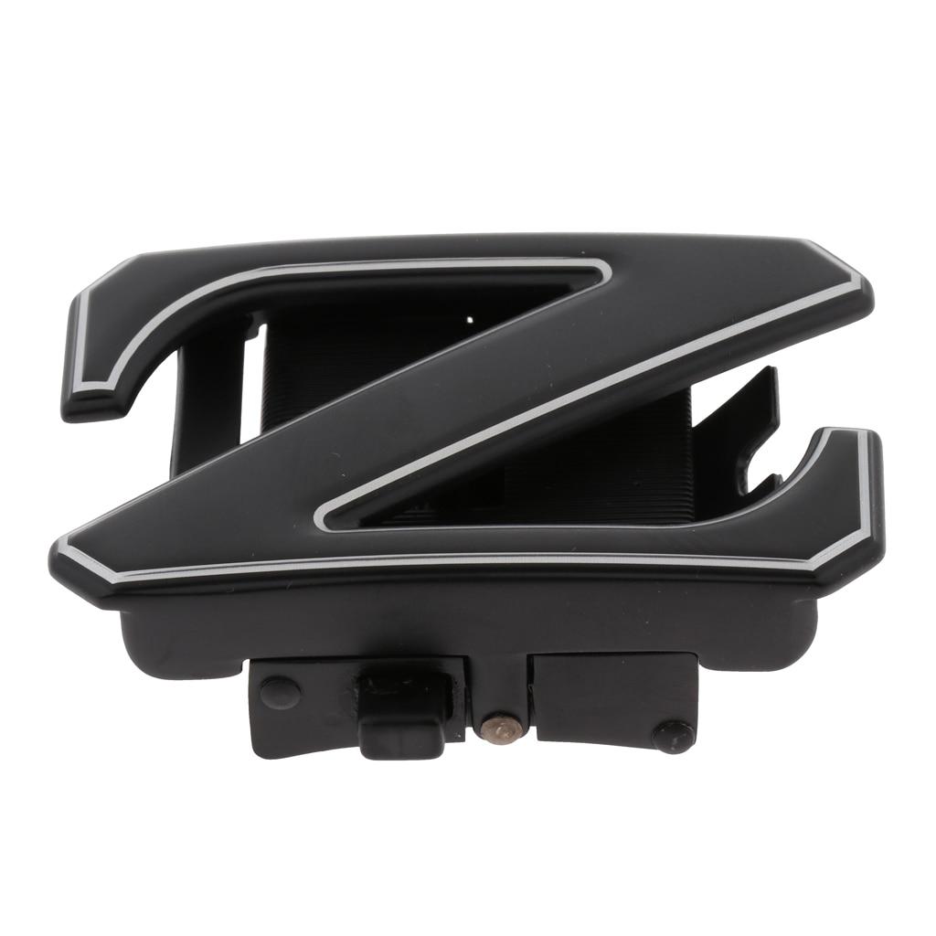 Durable Men Automatic Alloy Ratchet Belt Buckle Z-Type Replacement 35mm