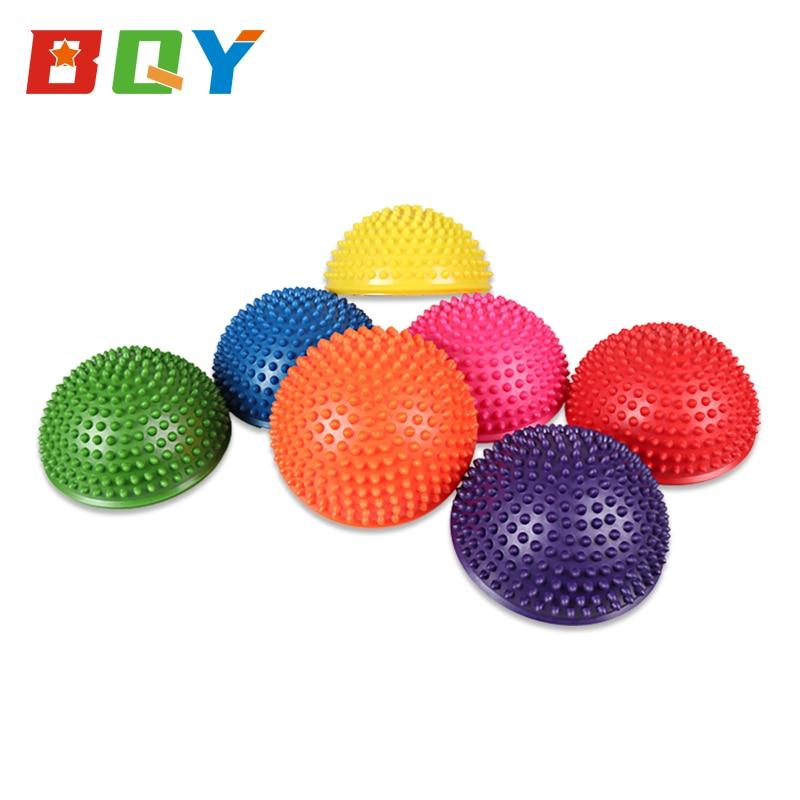 BQY Balance Pods Balance Hedgehog Spiked Ball Massage Hemisphere Ball Yoga Ball Fitness Massage Balance Ball