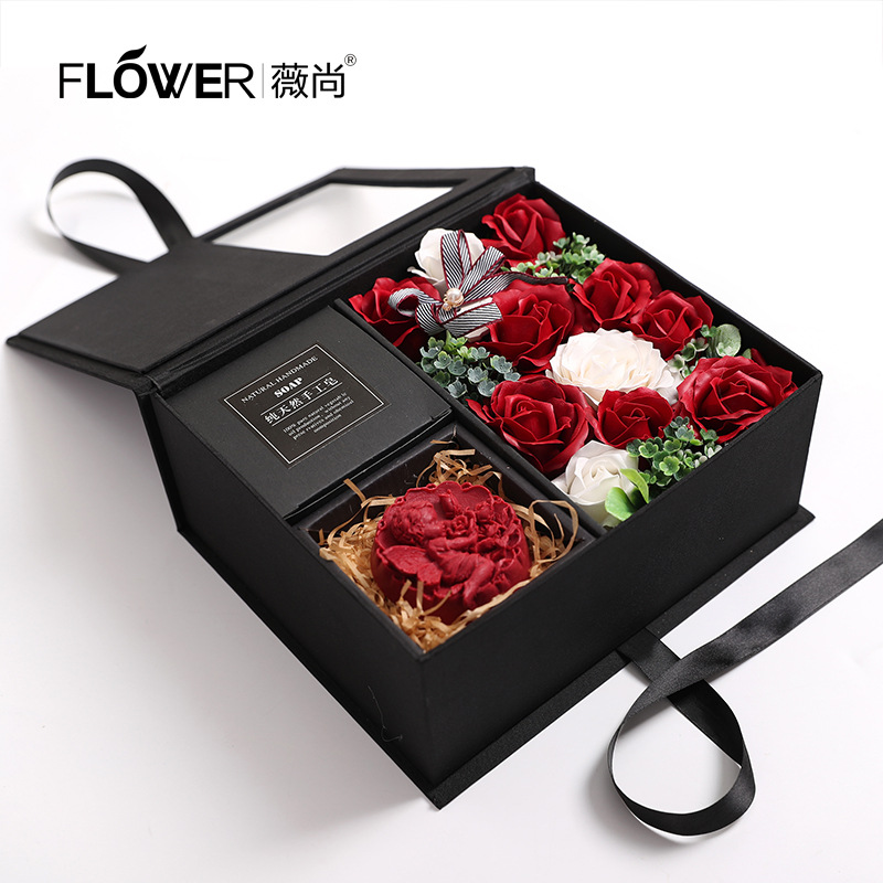 Christmas Gift Soap Flower Gift Box Novelty Gift Rose Creative Soap