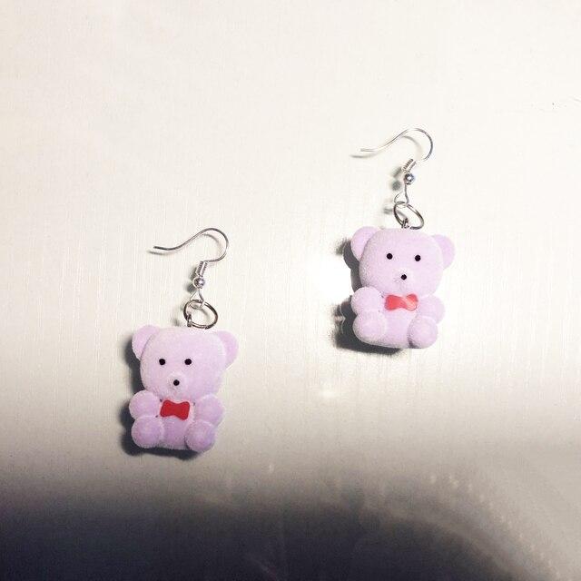 Купить 6 пар серьги капельки с изображением медведя в форме конфет картинки