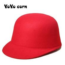 YOYOCORN Winter Keep warm Wool Felt Hats Women Wool Fedoras