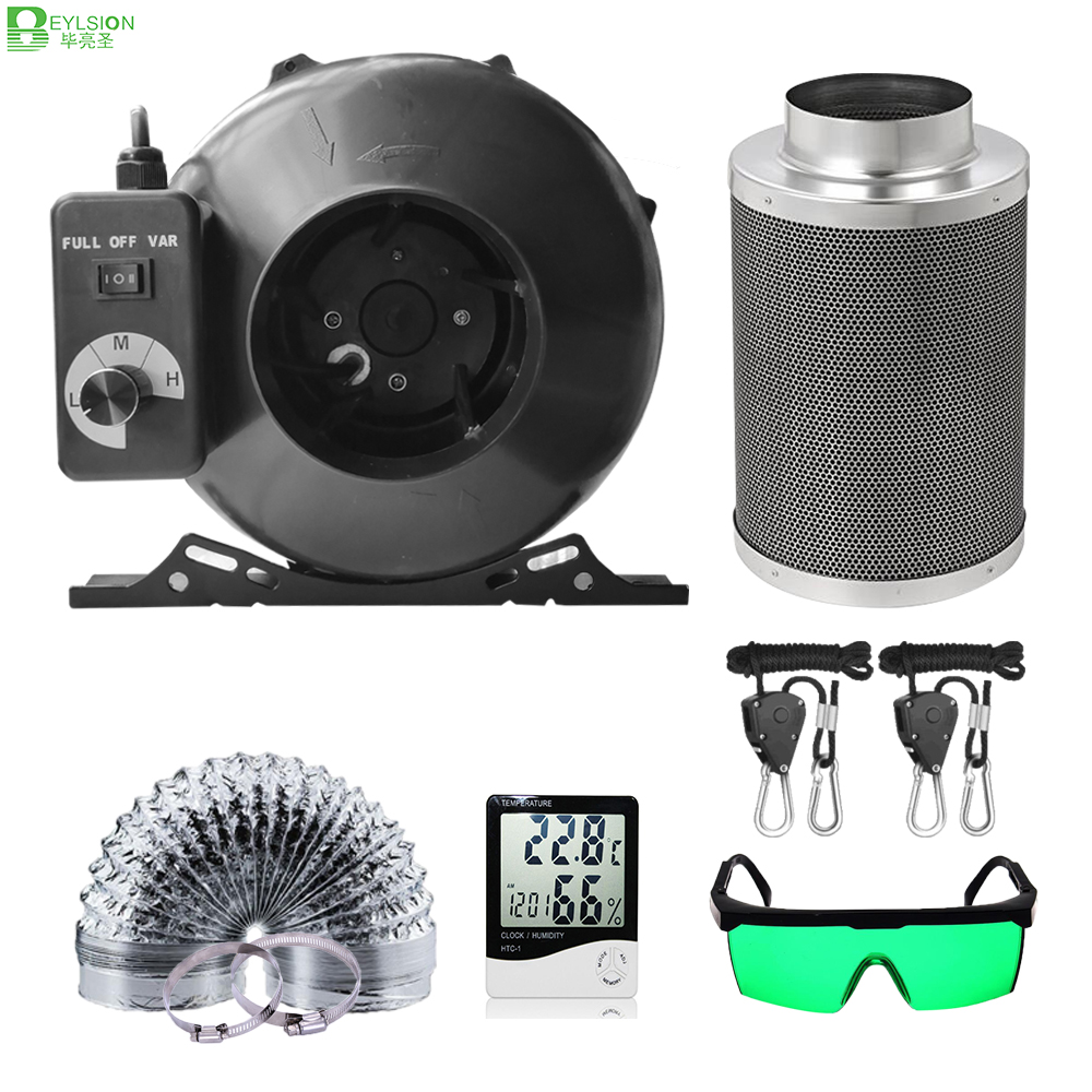 BEYLSION Grow box full kit 4/5/6/8 Inch Centrifugal Fans Activated Carbon Air Filter Set for Green House Grow Tent Hydroponic(China)