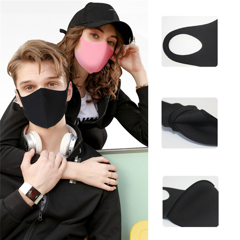 Anti Dust Face Mask Mouth Cover Adult Children Respirator Washable Breathable  Reusable Mask