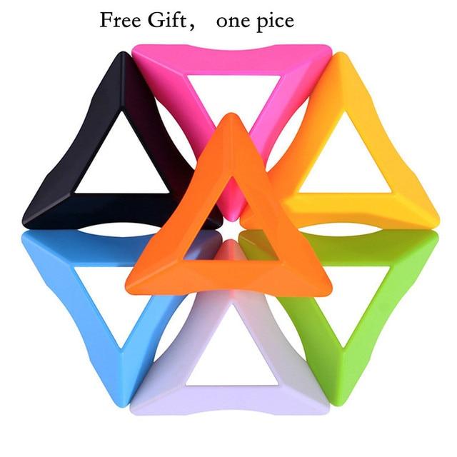 4x4x4 Pyramid Cube Black/Stickerless Magic Cube  95*95*95mm Pyramid Cube 4x4 Puzzle Pyramid Cube Special Toys For Children 6