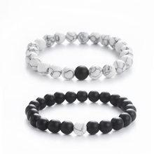 Yin Yang – Bracelet en Pierre Naturelle pour hommes, perles, bijoux de couple, cadeau de saint valentin