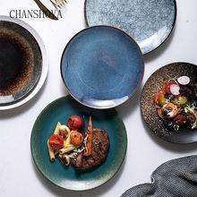 Керамическая круглая обеденная тарелка chanshova в китайском