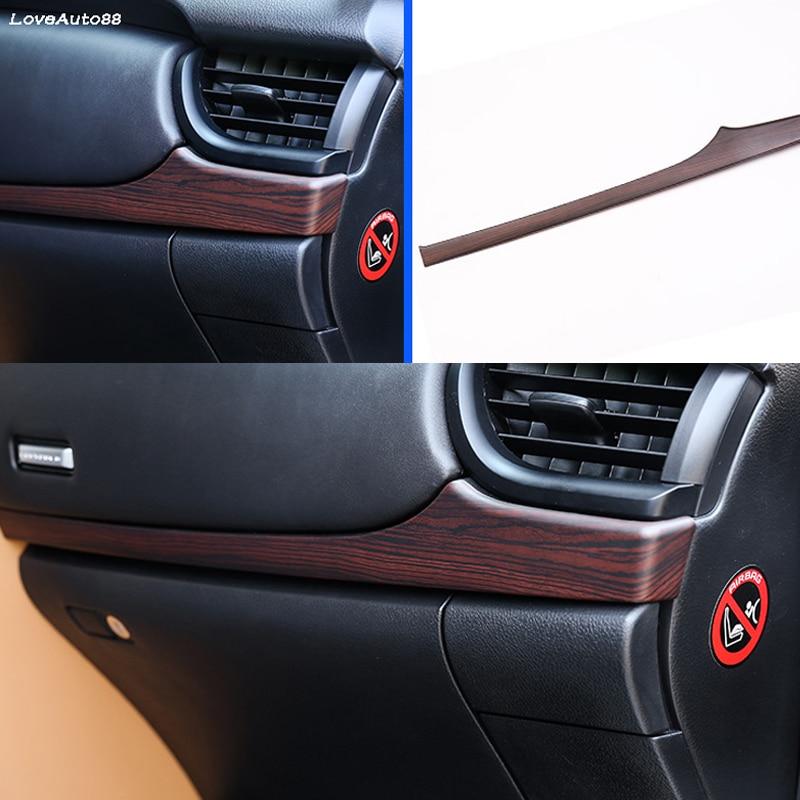 Car Dashboard Center Control Trim Strips Cover Interior Garnish Sticker Strips For Toyota Fortuner 2016 2017 2018 2019