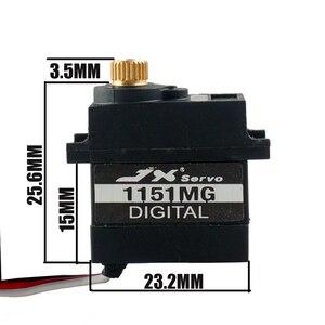 Image 5 - JX PDI 1151MG 3.6KG mini 6 v su geçirmez dijital çekirdeksiz Servo metal kabuk rc hsp helikopter araba Robot tekne traxas TRX 4