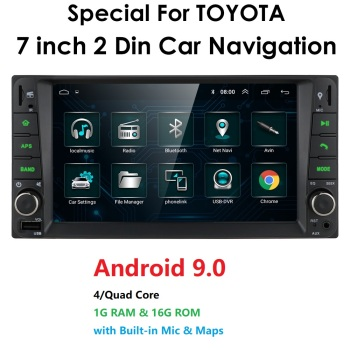"7"" Android 9 For Toyota RAV4/Hilux/Camry/Corolla/Terios Support 2 din 4 CORE Car radio Multimedia Stereo GPS WIFI 4G SWC BT GPS"