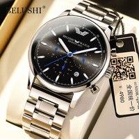 Belushi Männer Uhren Top Marke Luxus Designer 2021 Chronograph Quarz Uhren Edelstahl Military Männer Uhr Wasserdicht