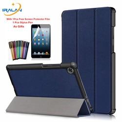 Ultra cienki 3-składane magnetyczne etui na lenovo Tab M8 TB-8505F TB-8505X 8.0 cal Tablet etui na lenovo Tab M8 przypadku + Film + rysik