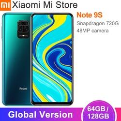 Versão global xiaomi redmi nota 9s 4gb 64gb/6gb 128gb smartphone snapdragon 720g 48mp câmera 6.67