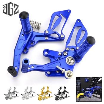 Pair Motorcycle CNC Rear Foot Brake Gear Step Raise Back Pedal Assembly Bracket for Kawasaki Ninja 300 2013 2014 2015 2016 Parts