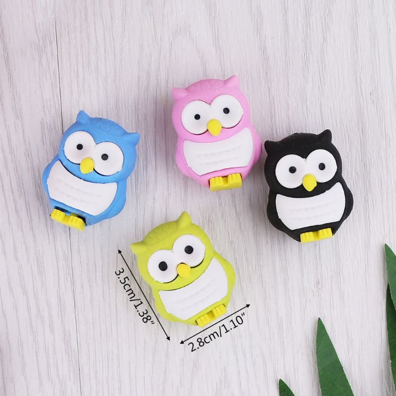 Creative 3D Owl Eraser Rubber Pencil Stationery Stationery Gift School Supplies L41E