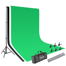 Background Stand Photography Video Studio Lighting Kit Background Stands With Carry Bag For Professional Photo Studio no need stand kit 7colors 1 6x1m photography studio green screen chroma key background non woven backdrop for photo studio