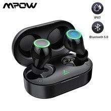 Mpow T6 Bluetooth 5.0 TWS słuchawki bezprzewodowe słuchawki do zestawu głośnomówiącego minisłuchawki IPX7 wodoodporne z 21H czas odtwarzania sterowanie dotykowe nowość