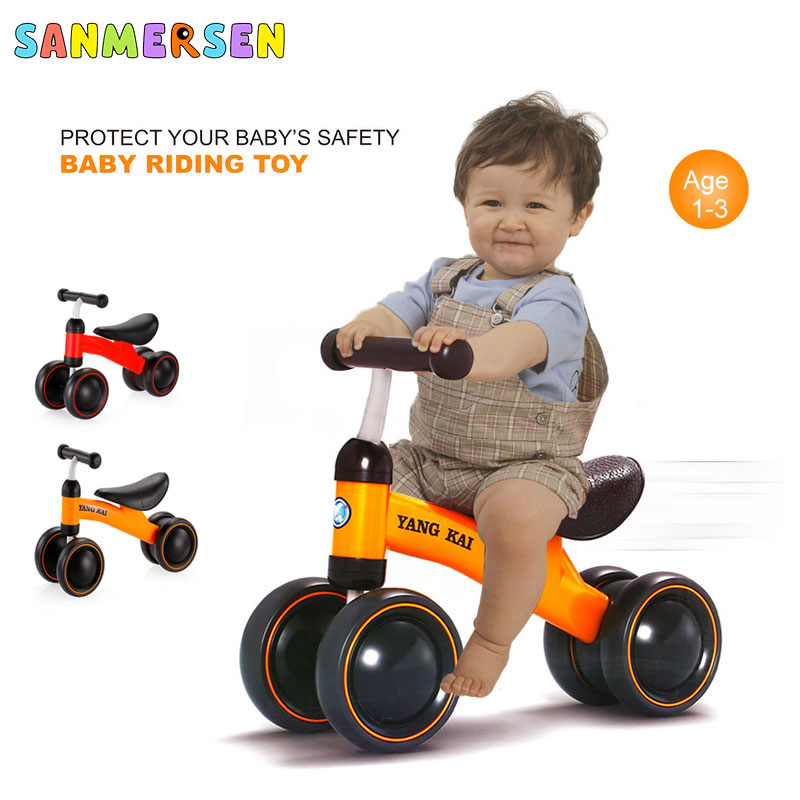 1-3 Years Baby Balance Walker Bike Kids Ride Car On Toy Gift For Boys Girls Toddler Toddler Walker For No Foot Pedal Riding Toy